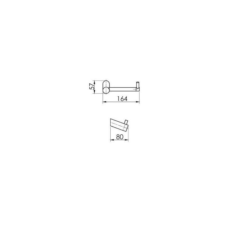Cifial AR110 Toilet Roll Holder Matt Black