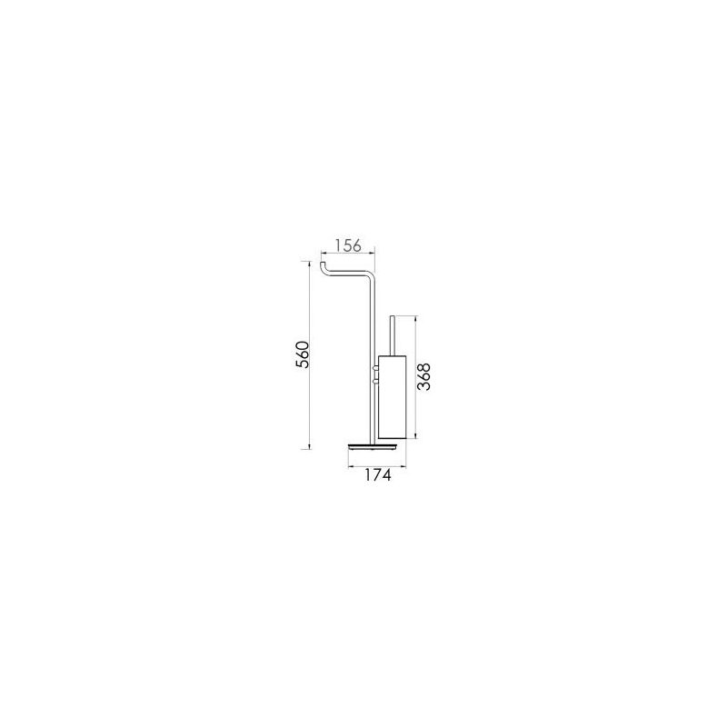 Cifial TH400 Toilet Brush & Roll Holder Chrome