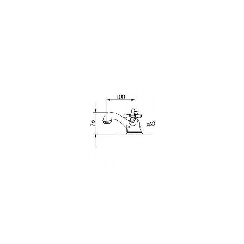 Cifial Edwardian Mono Basin Mixer Chrome