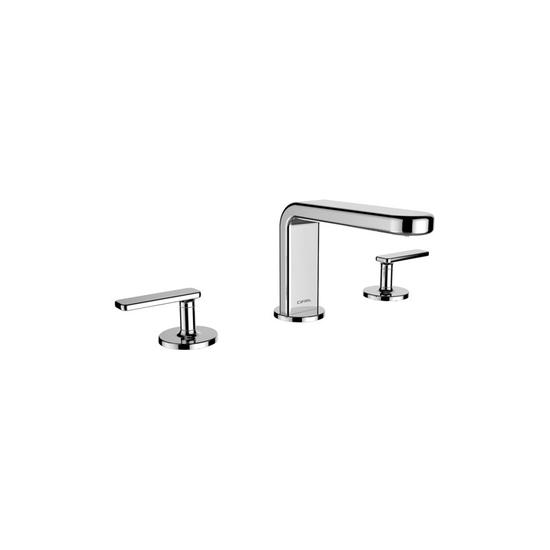 Cifial TH400 3 Hole Deck Basin Mixer (Lever) Chrome