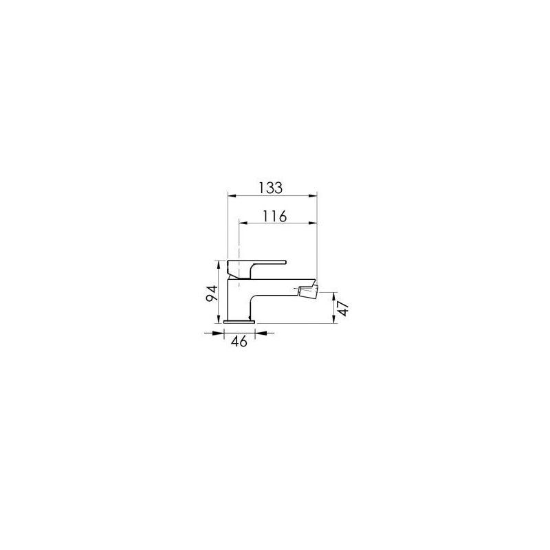 Cifial TH251 Mono Bidet Mixer Chrome