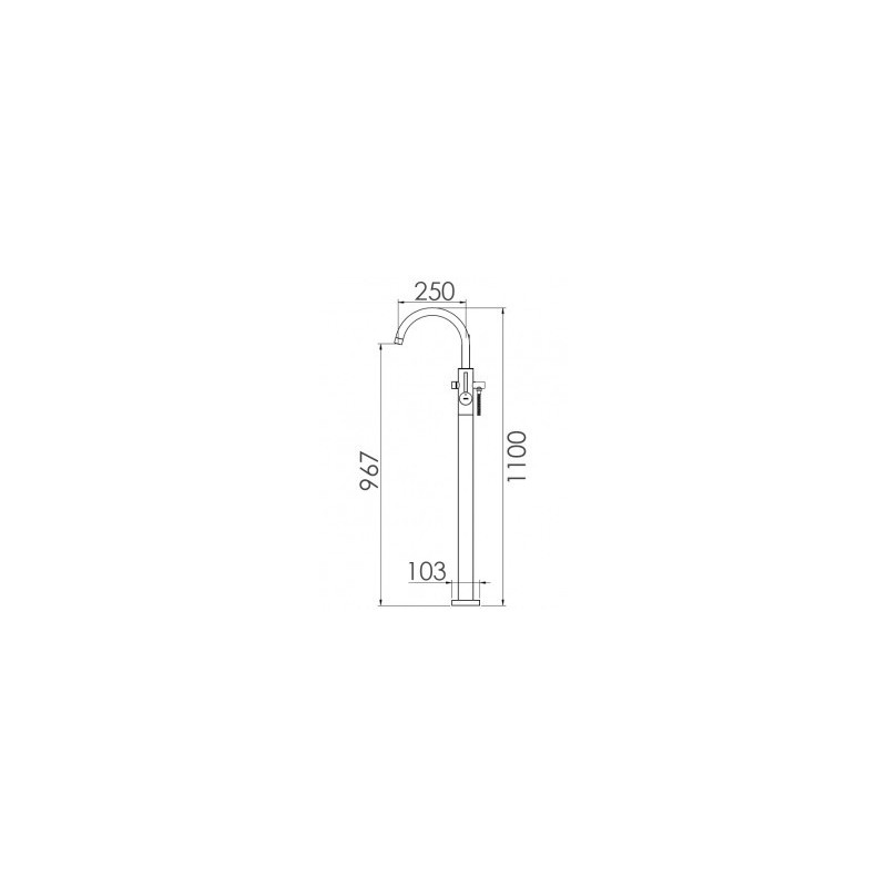 Cifial Technovation 465 Single Leg Floor Bath/Shower Mixer