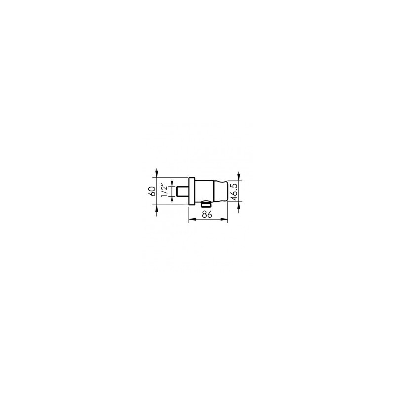 Cifial M3 Combined Wall Outlet & Park Bracket Chrome