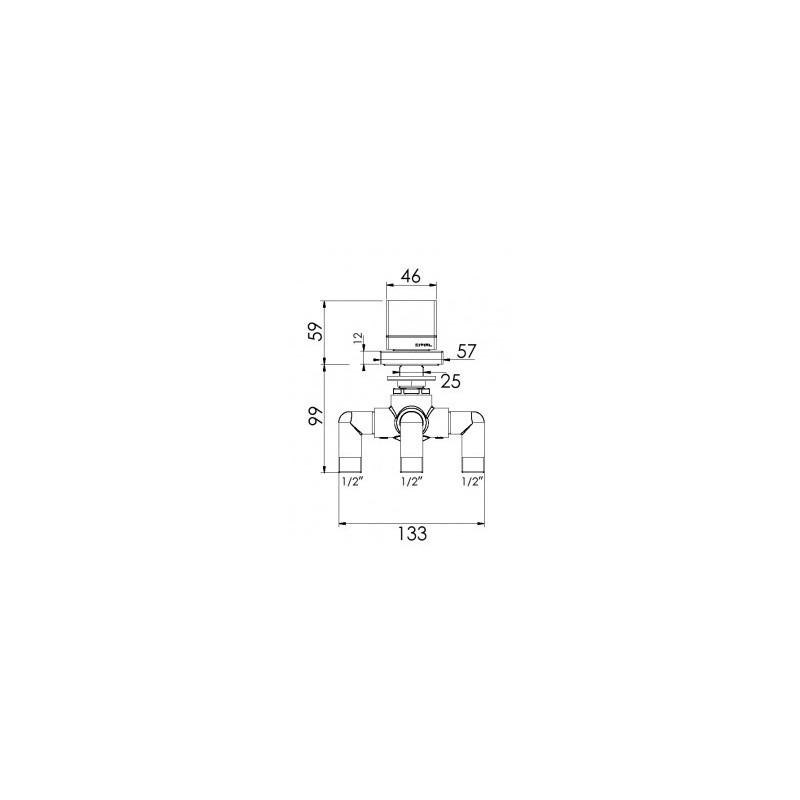 Cifial Quadrado Deck Diverter Chrome