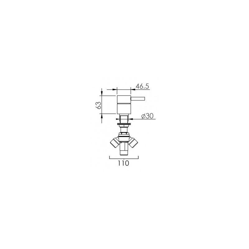 Cifial Technovation 465 Deck Diverter Chrome