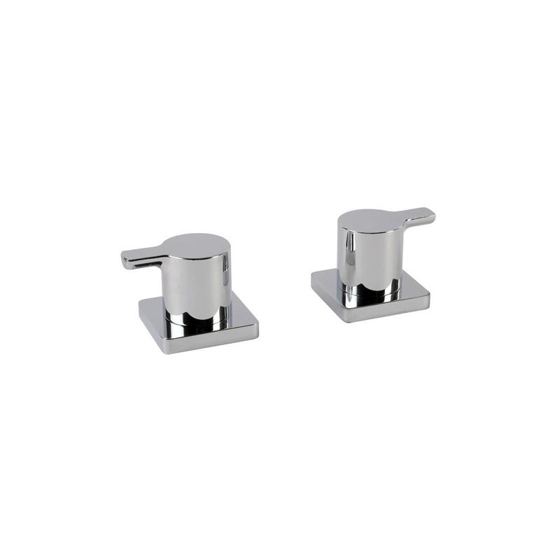 Cifial Coule Pair of Deck Bath Valves Chrome