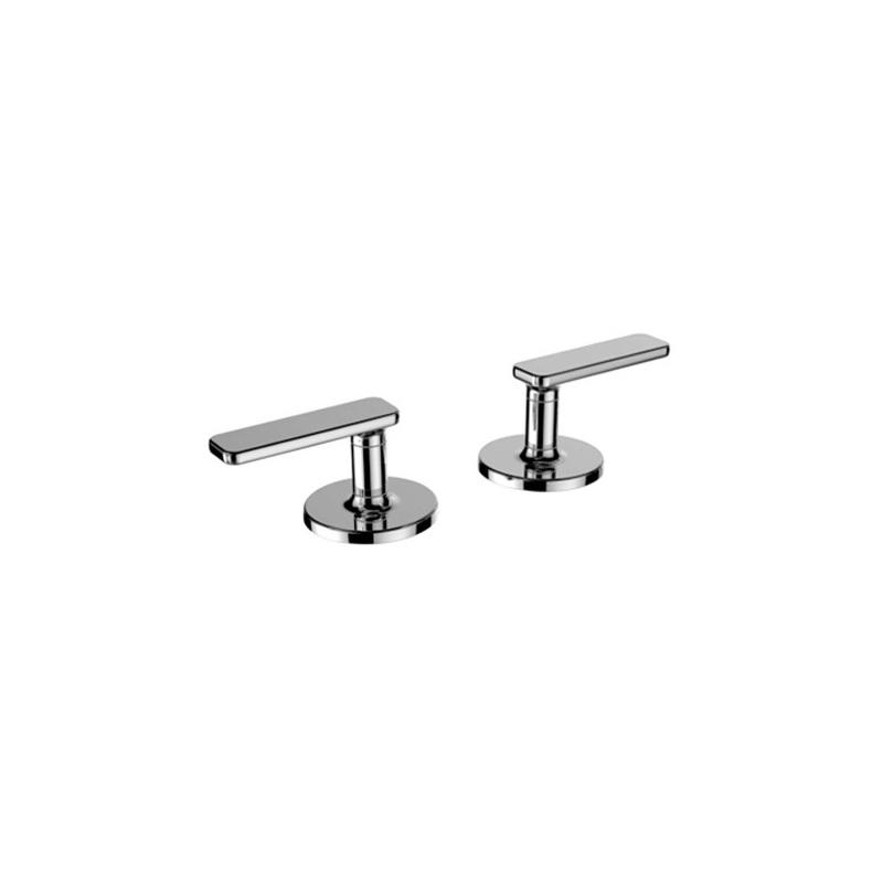 Cifial TH400 Pair of Deck Bath Valves (Lever) Chrome