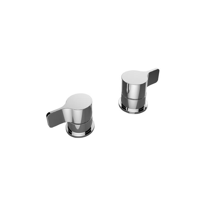 Cifial TH251 Pair of Deck Bath Valves Chrome