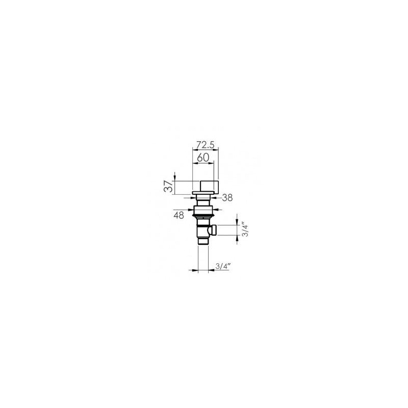 Cifial Technovation M3 Deck Valves & Aqua Filler Chrome