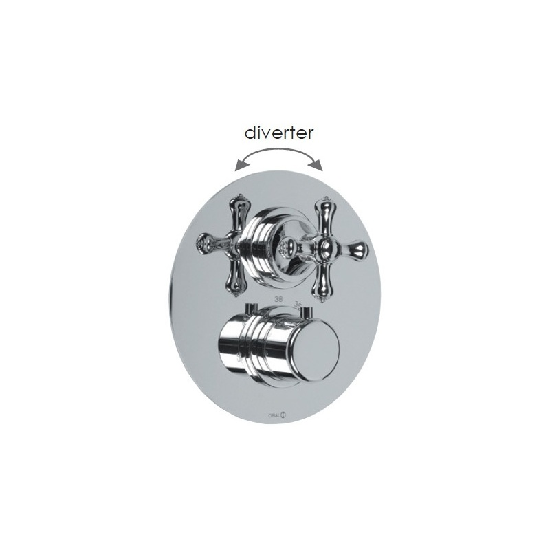 Cifial Edwardian Thermostatic Valve with Diverter Chrome