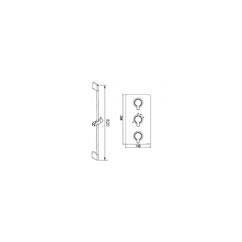 Cifial Coule Thermostatic Flexi/Bath Filler Kit Chrome