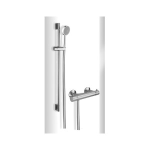 Cifial Mini Round Exposed Thermostatic Kit Chrome