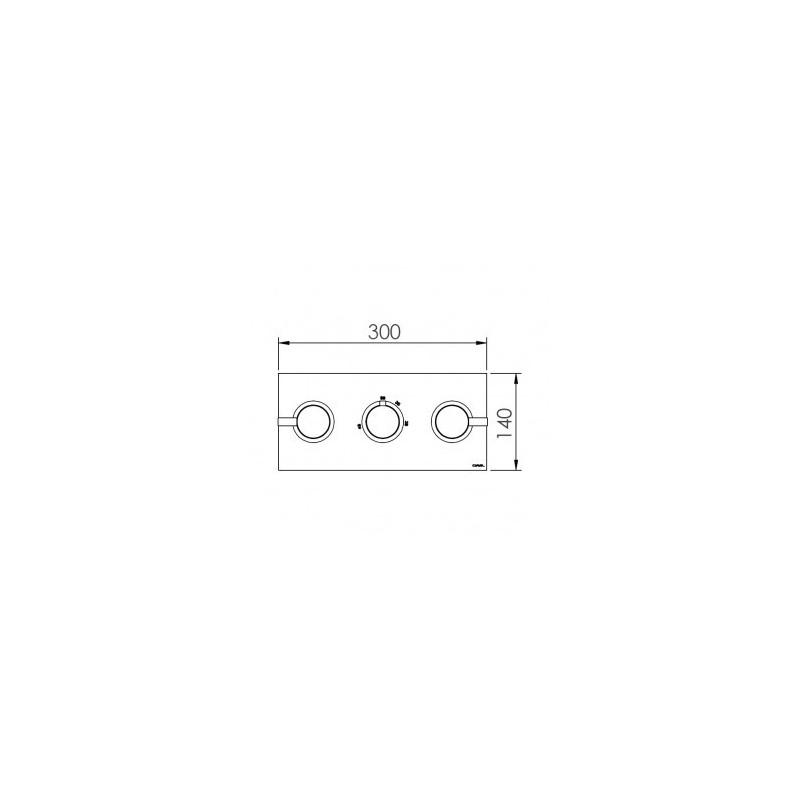 Cifial Technovation 465 3 Control Landscape Thermostatic Valve