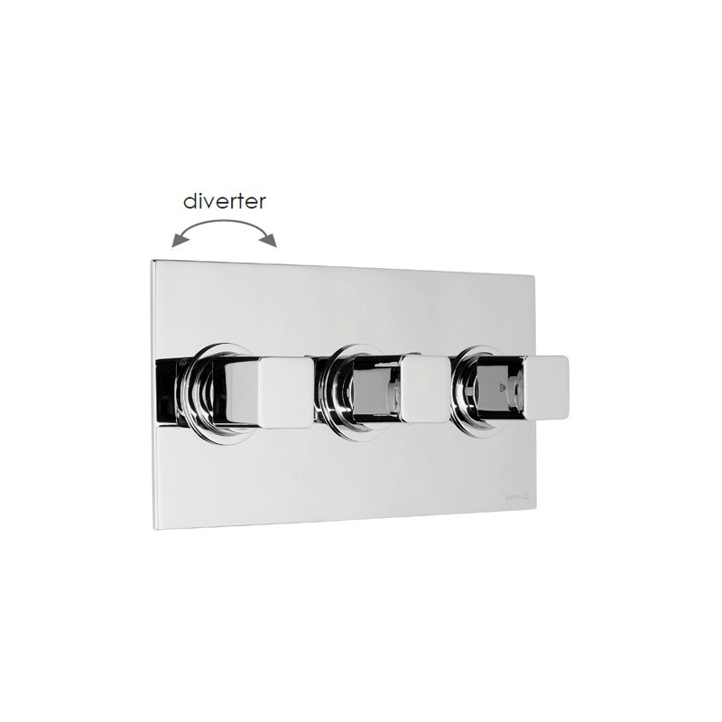 Cifial Cudo 3 Control Landscape Thermostatic Valve with Diverter