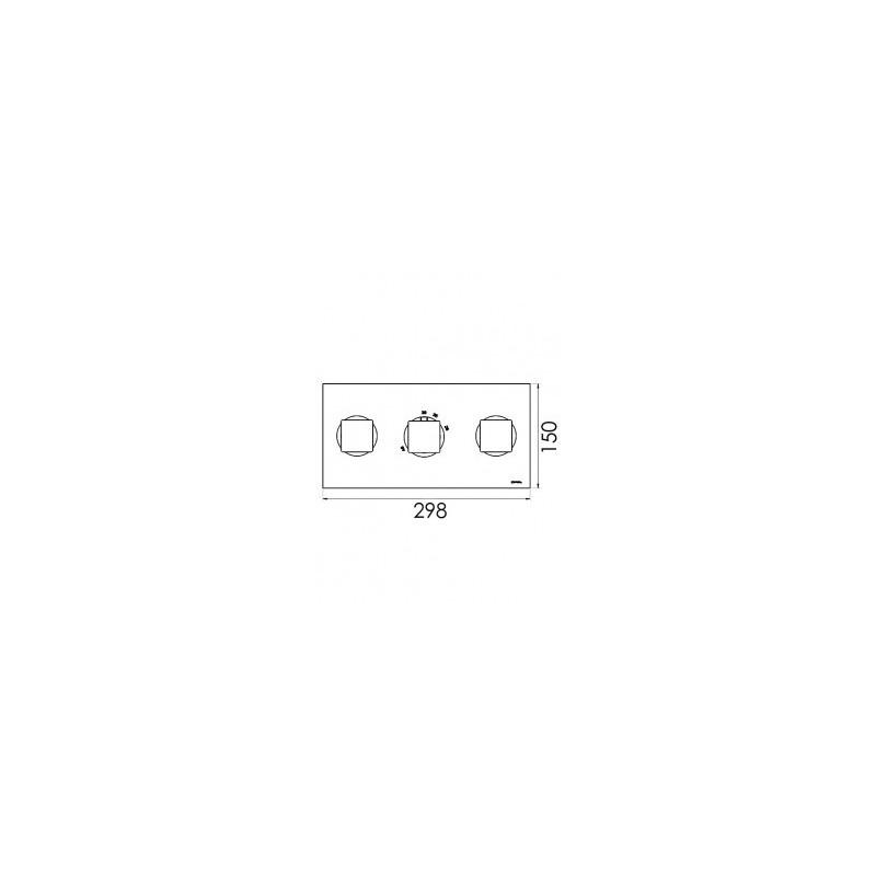 Cifial Quadrado 3 Control Landscape Valve with Diverter Chrome