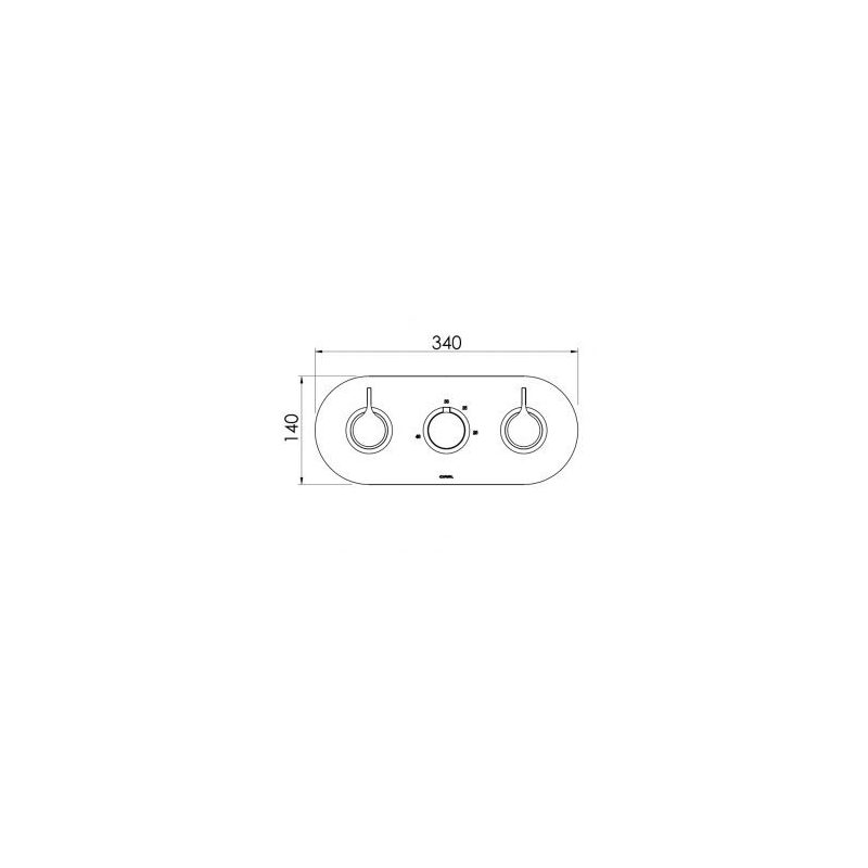 Cifial TH251 3 Control Landscape Valve with Diverter (3 Outlets)