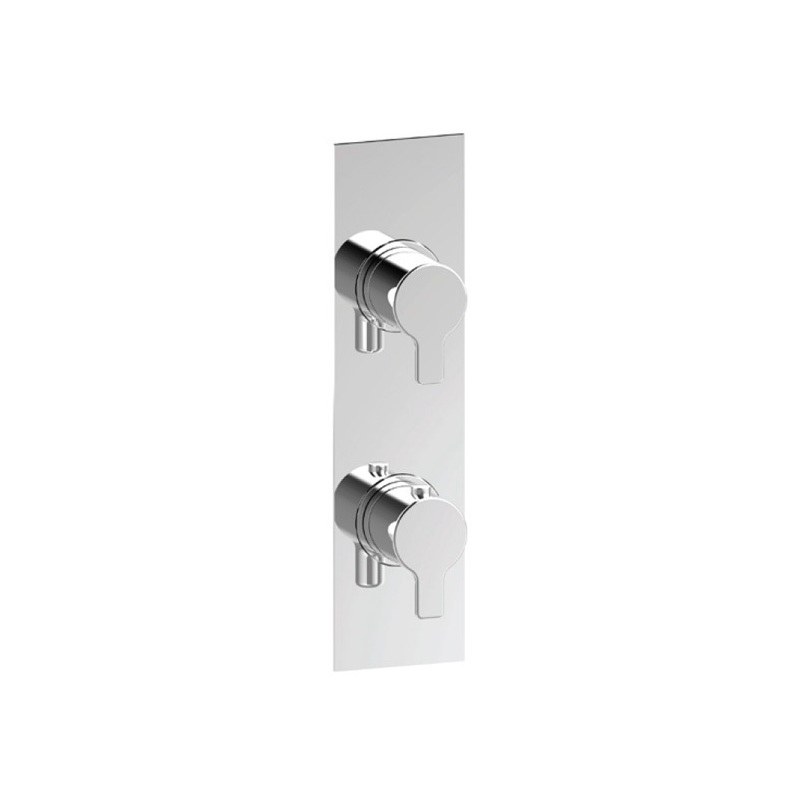Cifial Slim Coule Thermostatic Shower Valve, 1 Outlet