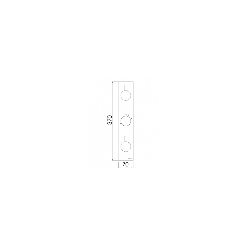 Cifial Slim Techno 3 Control Shower Valve, 2 Outlets