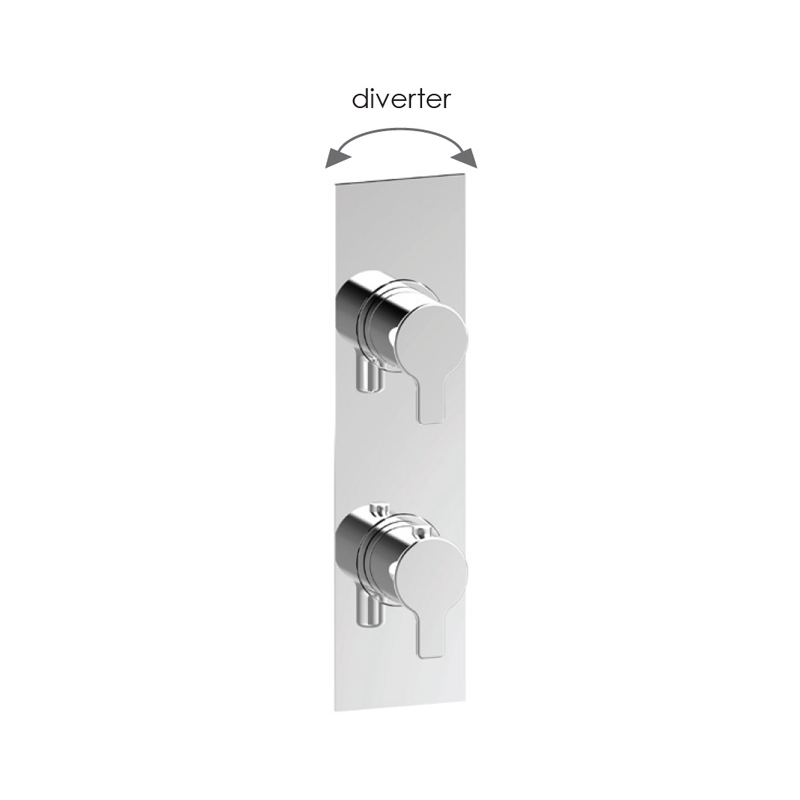 Cifial Coule Slim Vertical Shower Valve with Diverter, 2 Outlets