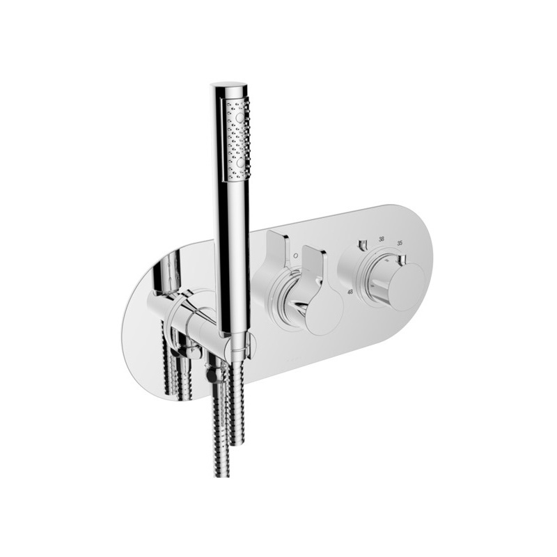Cifial TH251 2 Control Thermostatic Shower System Chrome