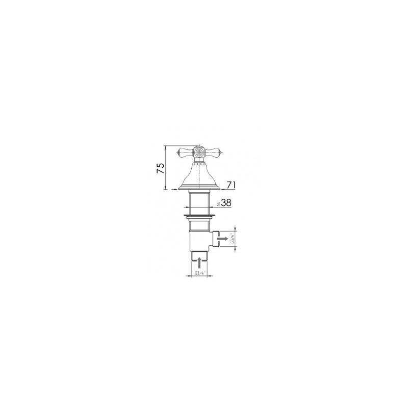 Cifial Edwardian Thermostatic Deck Valves & Aqua Filler