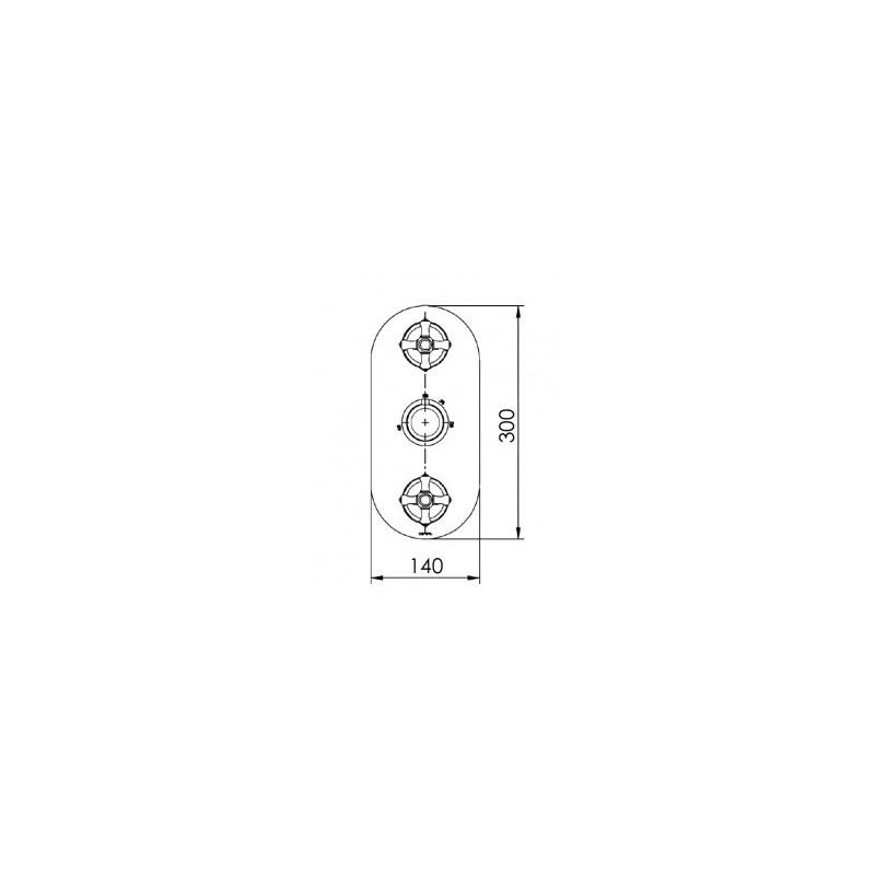 Cifial Edwardian 3 Control Thermostatic Valve Chrome