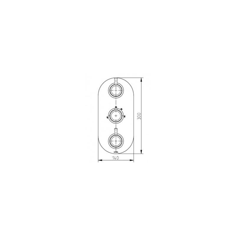 Cifial Technovation 35 3 Control Thermostatic Shower Valve