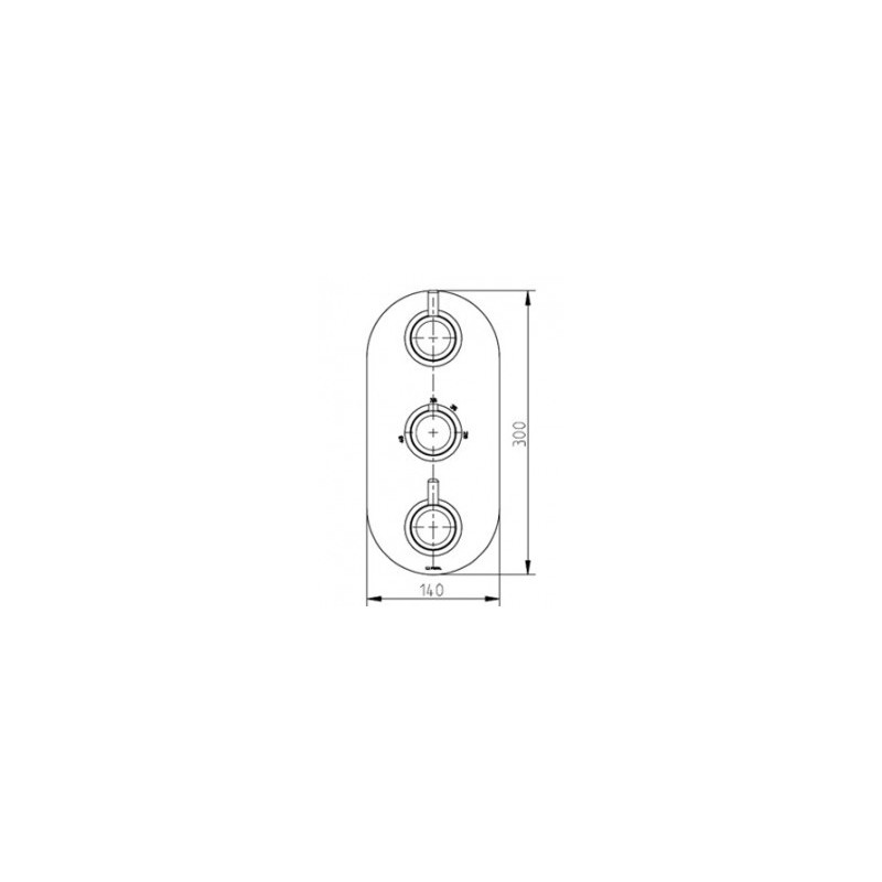 Cifial Technovation 35 3 Control Shower Valve with Diverter