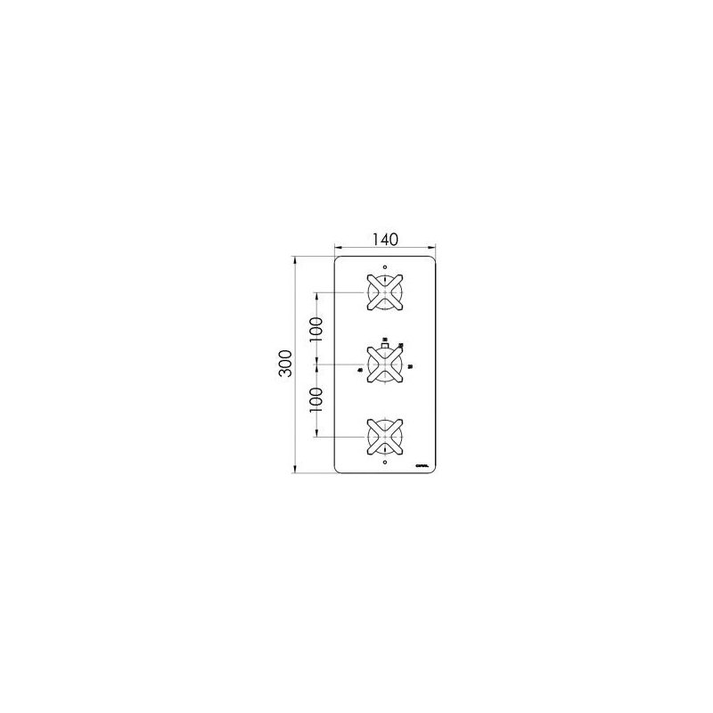 Cifial Texa Thermostatic Valve with Diverter, 3 Outlets