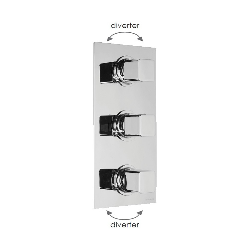 Cifial Cudo 3 Control Thermostatic Valve with Double Diverter