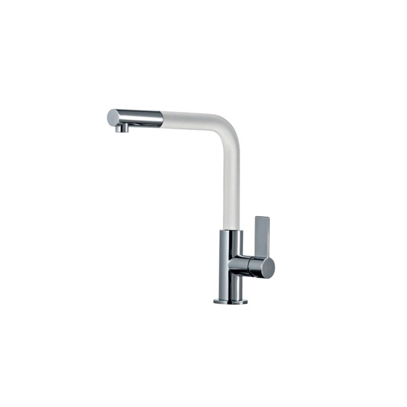 Clearwater Auriga Sink Mixer with Pull-Out Aerator Chrome/White