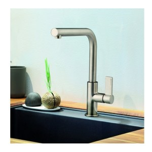 Clearwater Auriga Single Lever Mono Sink Mixer Brushed Nickel
