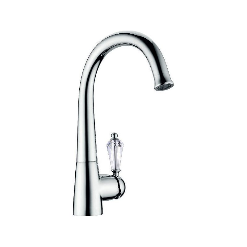 Clearwater Equinox Mono Sink Mixer Chrome/White Crystal