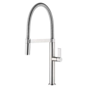 Clearwater Jovian Sink Mixer with Spring Spout Brushed Nickel