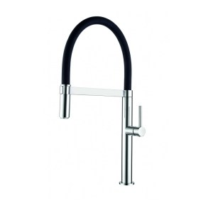 Clearwater Meridian Sink Mixer with Silicon Spout Brushed/Black