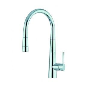 Clearwater Porrima Mono Sink Mixer with Pull-Out Brushed Nickel