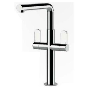 Clearwater Pulsar Twin Lever Mono Sink Mixer Chrome