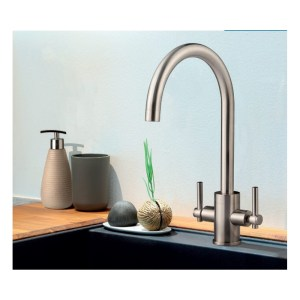 Clearwater Rococo Mono Sink Mixer with Swivel Spout Brushed