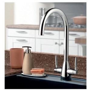 Clearwater Tutti Mono Sink Mixer with Swivel Spout Chrome