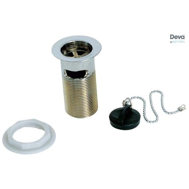 "Deva 1 1/4"" Basin Slotted Waste, Poly Plug"