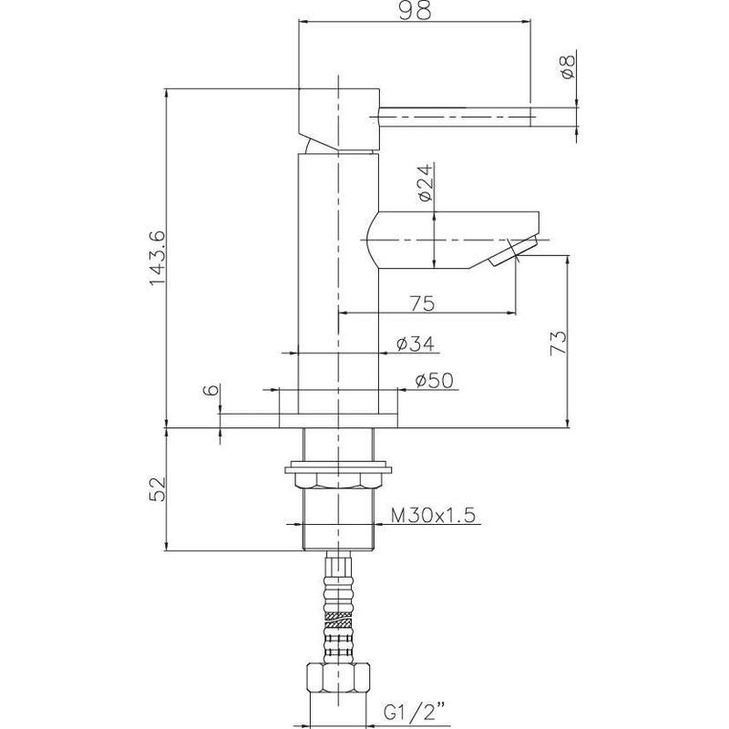 Deva Insignia Mini Mono Basin Mixer