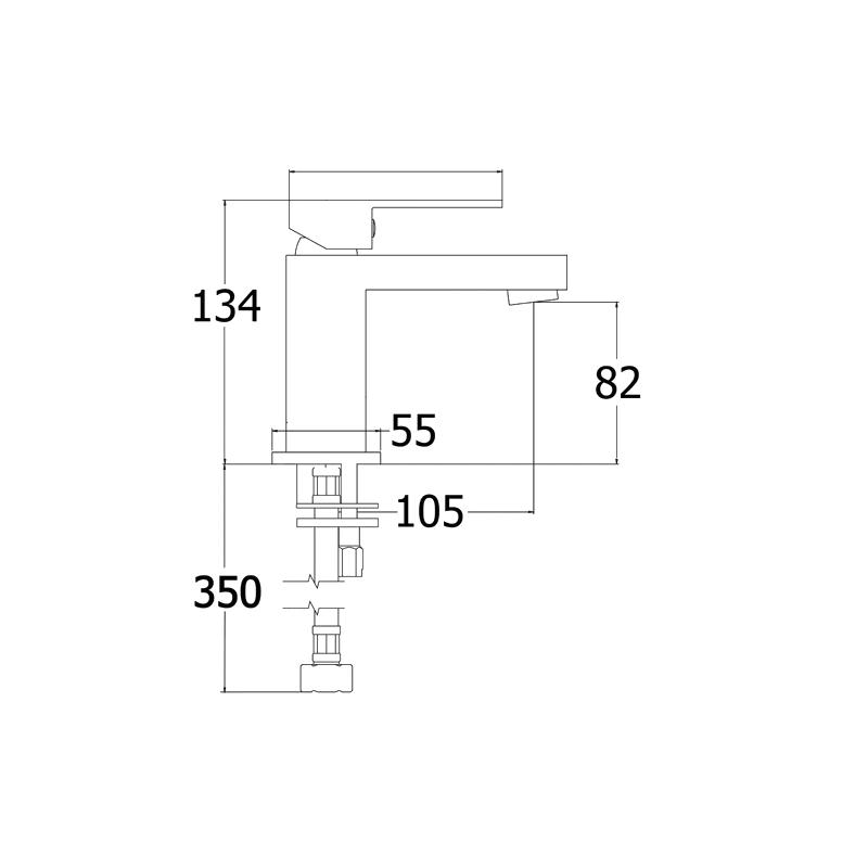 Deva Savvi MK2 Mini Mono Basin Mixer