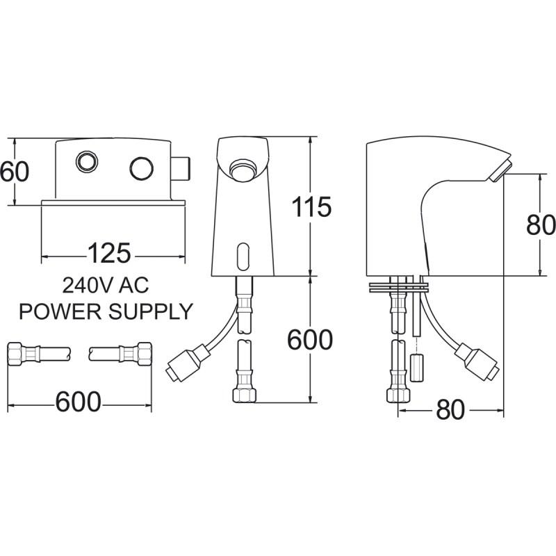 Deva Electronic Sensor Tap 1/D