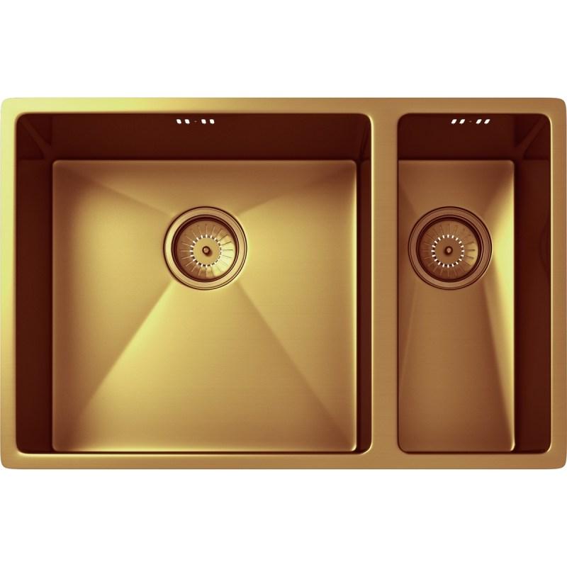 Ellsi Elite 1.5 Bowl Inset/Undermounted Steel Kitchen Sink Copper