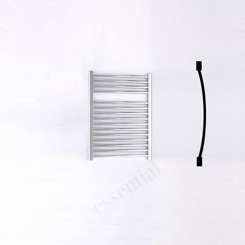Essential Standard Towel Warmer Curved 690x500mm Chrome