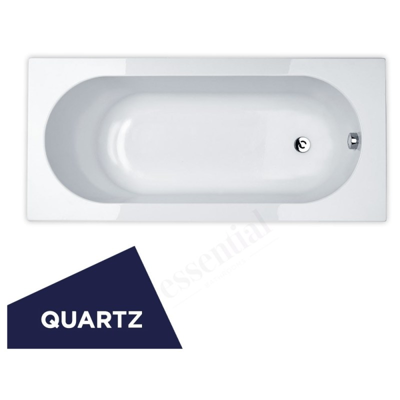 Essential Kingston Rectangular Bath Quartz 1700x700mm 0 Tap Hole