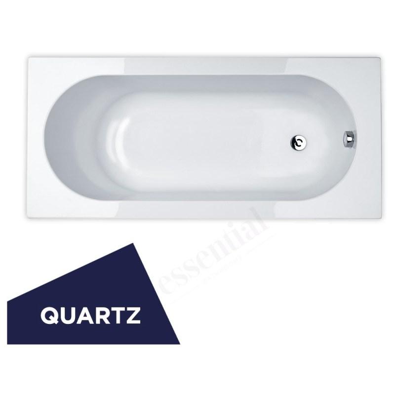 Essential Kingston Rectangular Bath Quartz 1700x750mm 0 Tap Hole