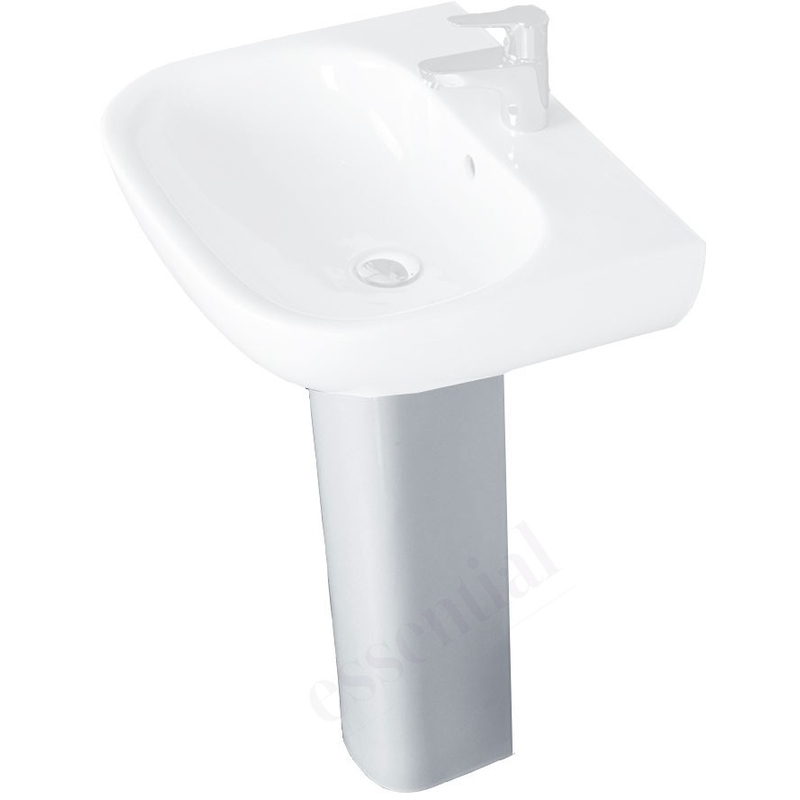 Essential Lily Full Pedestal Only White