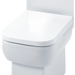 Essential Orchid Square Soft Close Toilet Seat & Cover White