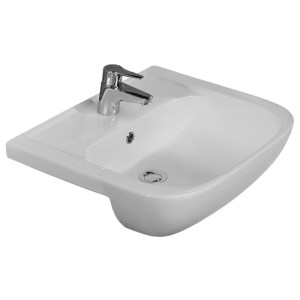 Essential Fuchsia 55cm Semi Recessed Basin 1 Tap Hole